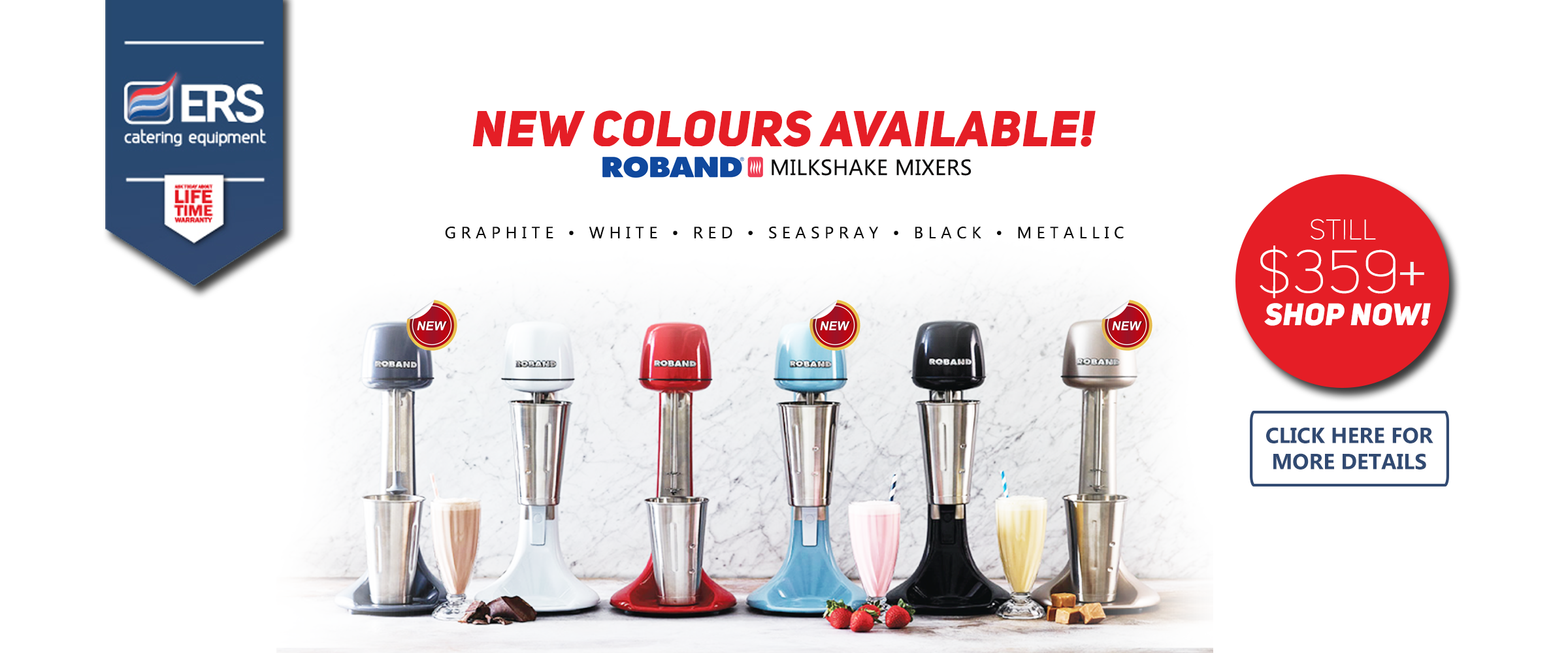 Roband Milkshake Mixers New Color Offer