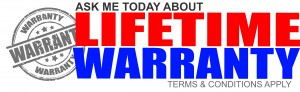 Life time equipment warranty