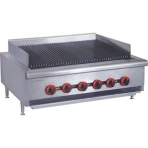 FED Gasmax Six Burner Char Grill Top