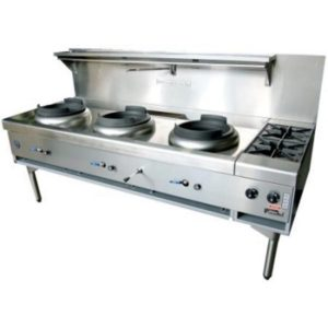 Goldstein Triple Air Cooled Gas Wok With Side Burners