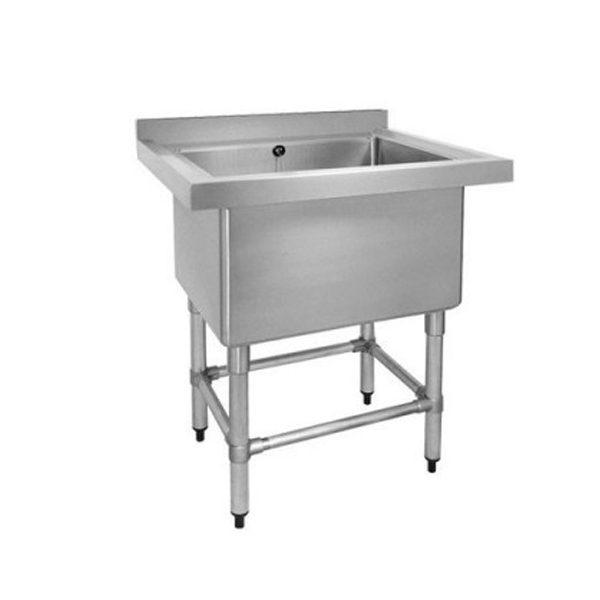 F.E.D. 770-6-SSB Stainless Steel Single Deep Pot Sink