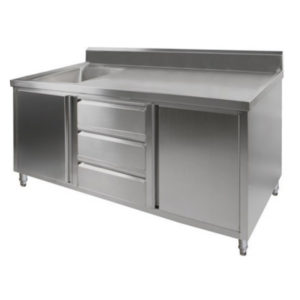 F.E.D. SC-7-1200L 'KITCHEN TIDY' Cabinet With Left Sink