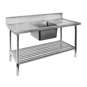 F.E.D. SSB7-1200C Single Centre Sink Bench & Pot Undershelf