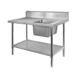 F.E.D. SSB7-1500R Single Right Sink Bench With Pot Undershelf