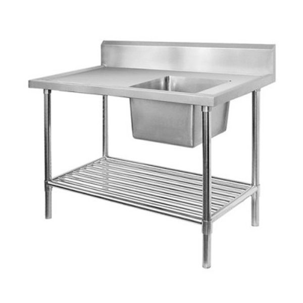 F.E.D. SSB7-1800R Single Right Sink Bench With Pot Undershelf