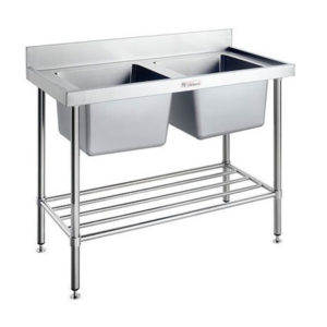 Simply Stainless SS06.1200/2400 Double Sink Bench (600 Series)