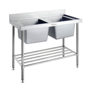 Simply Stainless SS06.7.1200/2400 Double Sink Bench (700 Series)