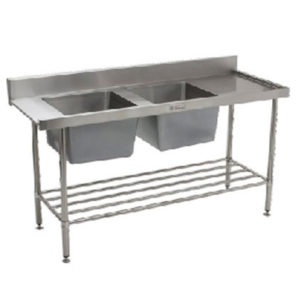 Simply Stainless SS09.7.1650 DB.L/R Double Sink Dishwasher Inlet Bench (700 Series)