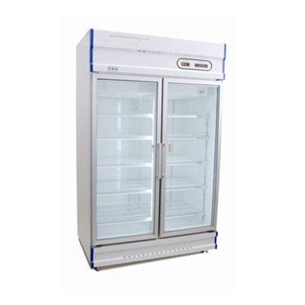 Anvil GDJ1260 Double Glass Door Display Fridge