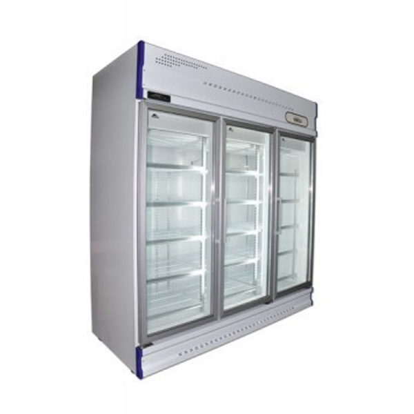 Anvil GDJ1880 Three Glass Door Upright Display Fridge - 1610Lt