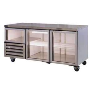Anvil UBG1800 Glass Door Under Bench Fridge With 2 1/2 Glass Doors