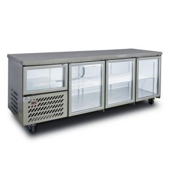 Anvil UBG2400 Glass Door Under Bench Fridge 2400mm