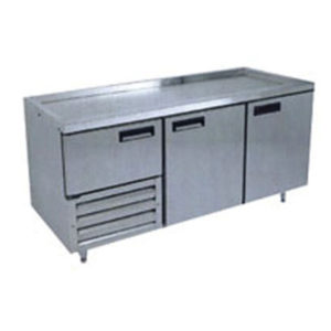 Anvil UBS1800 Stainless Steel Under Bench Fridge With 2 1/2 Solid Doors
