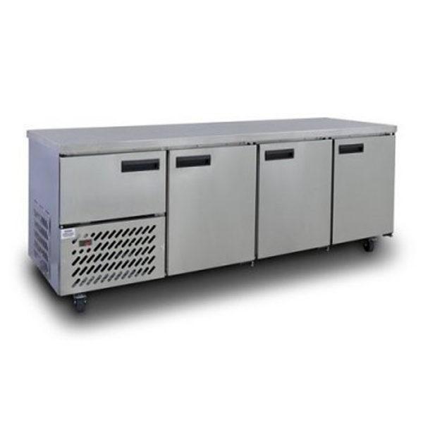 Anvil UBS6240 Stainless Steel Slimline Under Bar (3 1/2 St/Steel Doors) 2400mm 693lt