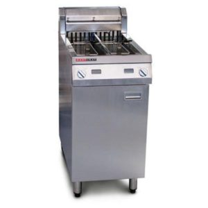 Austheat Single Split Pan Fryer 2 Basket AF822