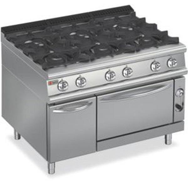 Baron 6 Burner Gas Oven 7PCF/G1205