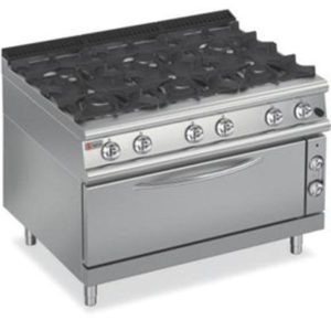 Baron Six Burner Large Gas Oven 7PCFL/G1205
