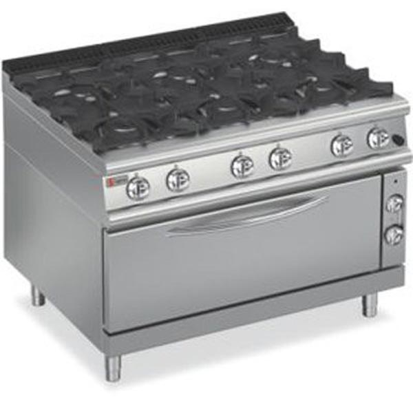 Baron Six Burner Large Gas Oven 7PCFL/G1205