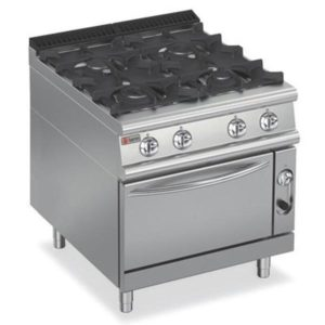 Baron Four Burner Gas Cook Top On Gas Oven 9PCF/G8005