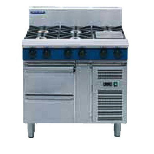 Blue Seal 1200mm Gas Cooktop - Refrigerated Base G518D