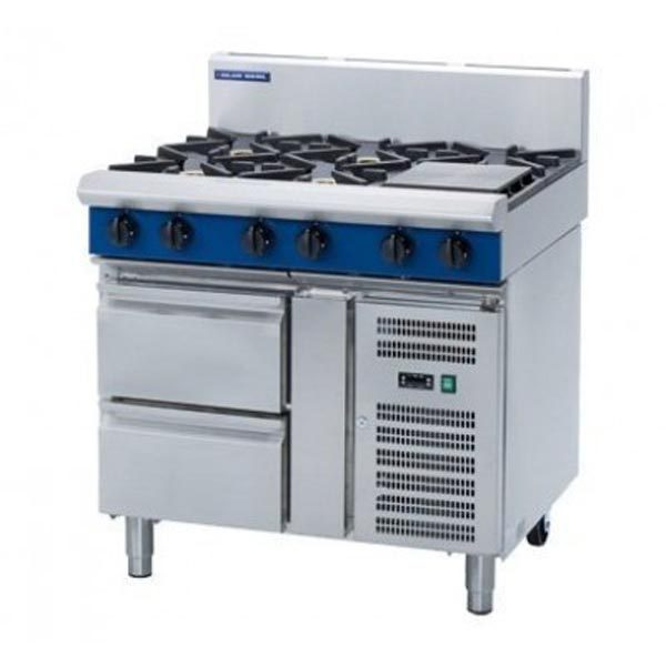Blue Seal 900mm Gas Cooktop – Refrigerated Base