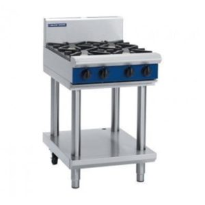 Blue Seal Evolution Series 600mm Gas Cooktop – 4 Burner Leg Stand