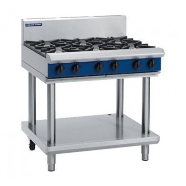 Blue Seal G516D-LS 6 Burner Gas Cook Top On Leg Stand