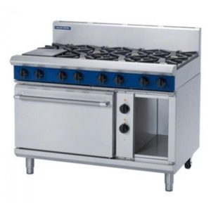 Blue Seal Gas Range Electric Static Oven 1200mm GE508D/C/B/A