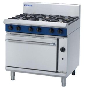 Blue Seal Heavy Duty 900mm 6 Burner Gas Static Oven Range G506D