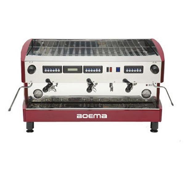 Boema D-3V20A Deluxe 3 Group Volumetric Espresso Machine