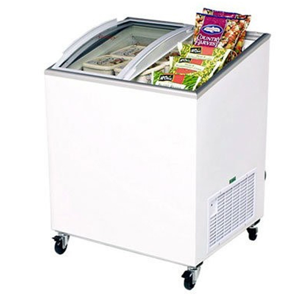 Bromic Angle Top Curved Glass Chest Freezer CF0200ATCG