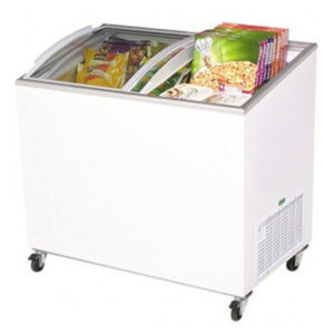 Bromic CF0300ATCG Angle Top Curved Glass Chest Freezer – 264 Litre