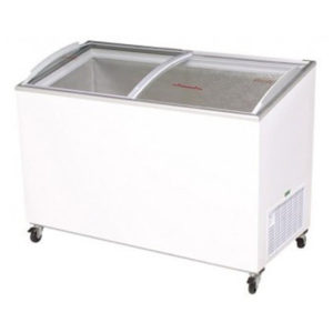 Bromic CF0400ATCG Angle Top Curved Glass Chest Freezer – 352 Litre