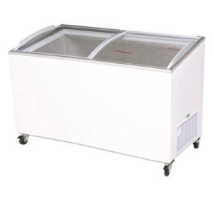 Bromic CF0500ATCG Angle Top Curved Glass Chest Freezer – 427 Litre