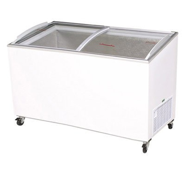 Bromic CF0500ATCG Angle Top Curved Glass Chest Freezer - 427 Litre