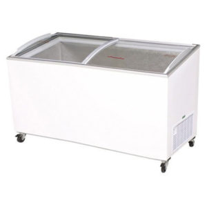 Bromic CF0600ATCG Angle Top Curved Glass Chest Freezer – 555 Litre