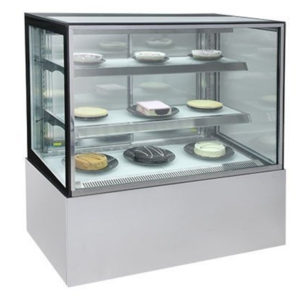 Bromic FD0900 Square Glass Cake Display W/LED Lighting – 900mm