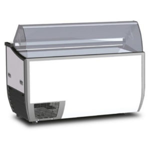 Bromic Fenice 7 Angle Top Flat Glass Gelato Display