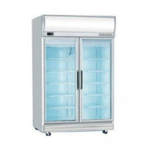 Bromic GD1000LF Upright Double Glass Door Chiller W/Lightbox – 976 Litre