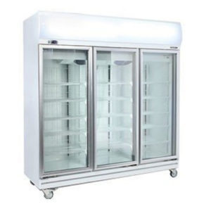Bromic GD1500LF Upright 3 Glass Door Chiller W/Lightbox – 1507 Litre