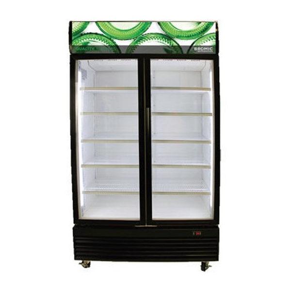 Bromic GM1000LB LED ECO Black Glass Door Chiller W/Lightbox - 1000 Litre