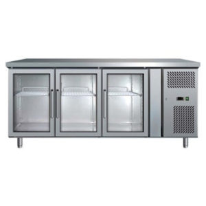 Bromic UBC1795GD Three Glass Door Under Bench Chiller – 417 Litre