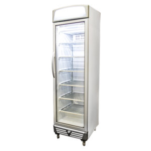 Bromic UF0374LS LED Glass Door Static Freezer W/Lightbox – 300 Litre