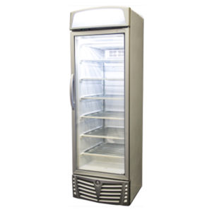 Bromic UF0440LS LED Glass Door Static Freezer W/Lightbox – 440 Litre
