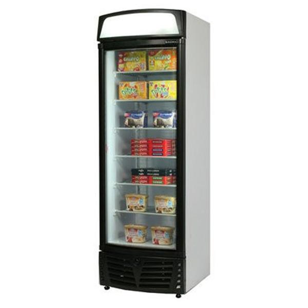 Bromic UF0500LSC LED Glass Door Static Freezer w/Lightbox - 450 Litre