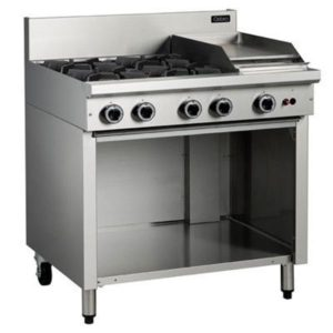 Cobra 4 Burner Cooktop With 300mm Griddle On Open Cabinet Base