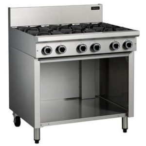 Cobra 6 Burner Gas Cooktop On Open Cabinet Base