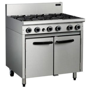 Cobra 6 Burner Gas Static Oven Range 900mm CR9D