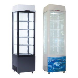 Exquisite CTD235 Single Door Display Fridge W/Light Panel