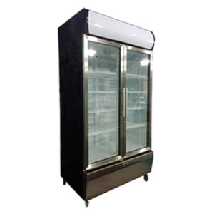 Exquisite SS1000P Upright Glass Chiller – 1000L Volume